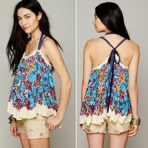 Free People Living Large Floral Tank
